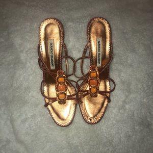 Manolo Blahnik Orange High Heels
